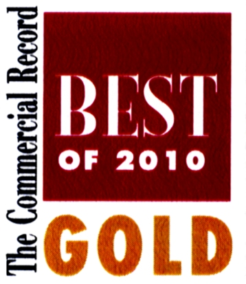 "Commercial Record ""Best of 2010 - GOLD"" award"